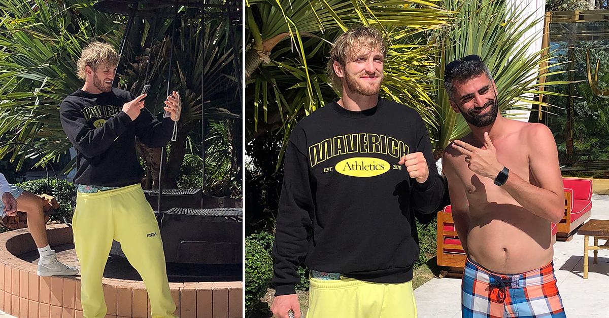 logan paul seen for the first time since floyd mayweather fight