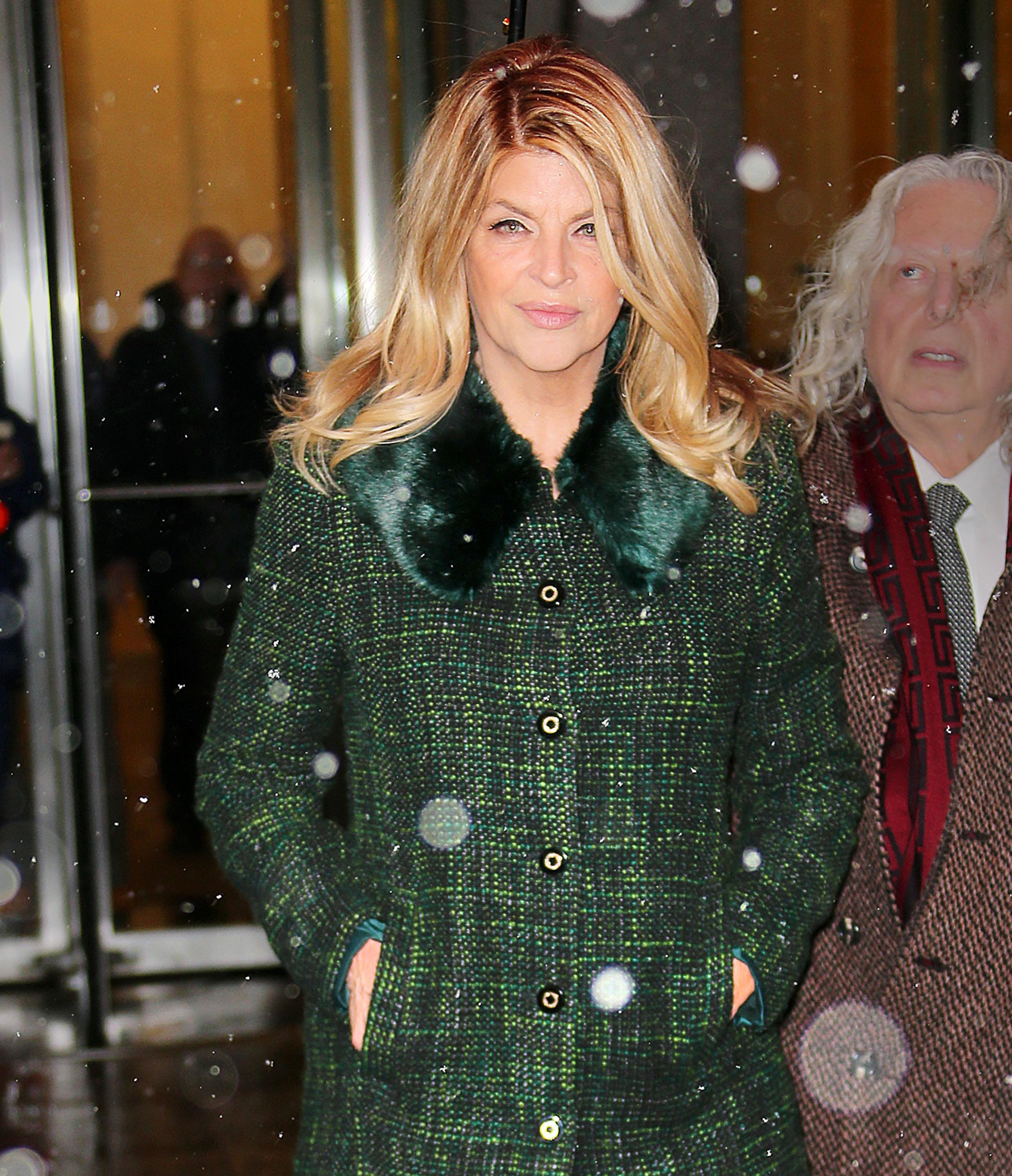 Kirstie Alley at Sirius Radio in NYC