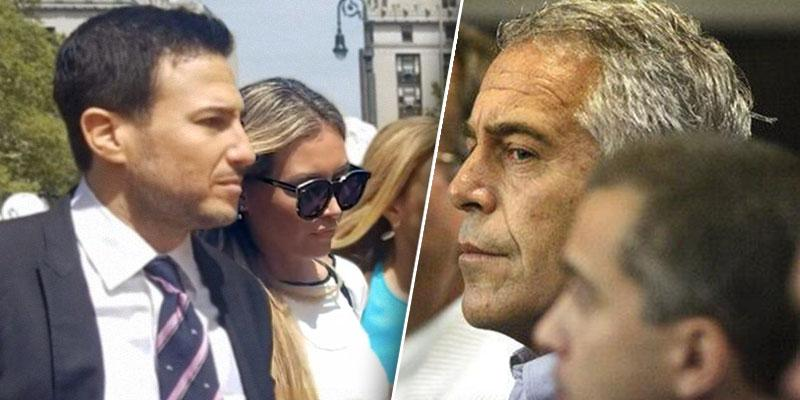 Jennifre Araozheading to Court and Jeffrey Epstein in court