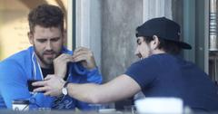 Nick Viall and Jared Haibon have lunch at Joan's on Third