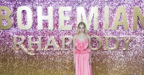 Lucy Boynton wears a sublime pink outfit on the red carpet.