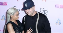 Blac Chyna and Rob Kardashian look happy as can be as they arrive on the purple carpet for her birthday party / Chymoji (emoji) release party at the Hard Rock Cafe in Hollywood, CA