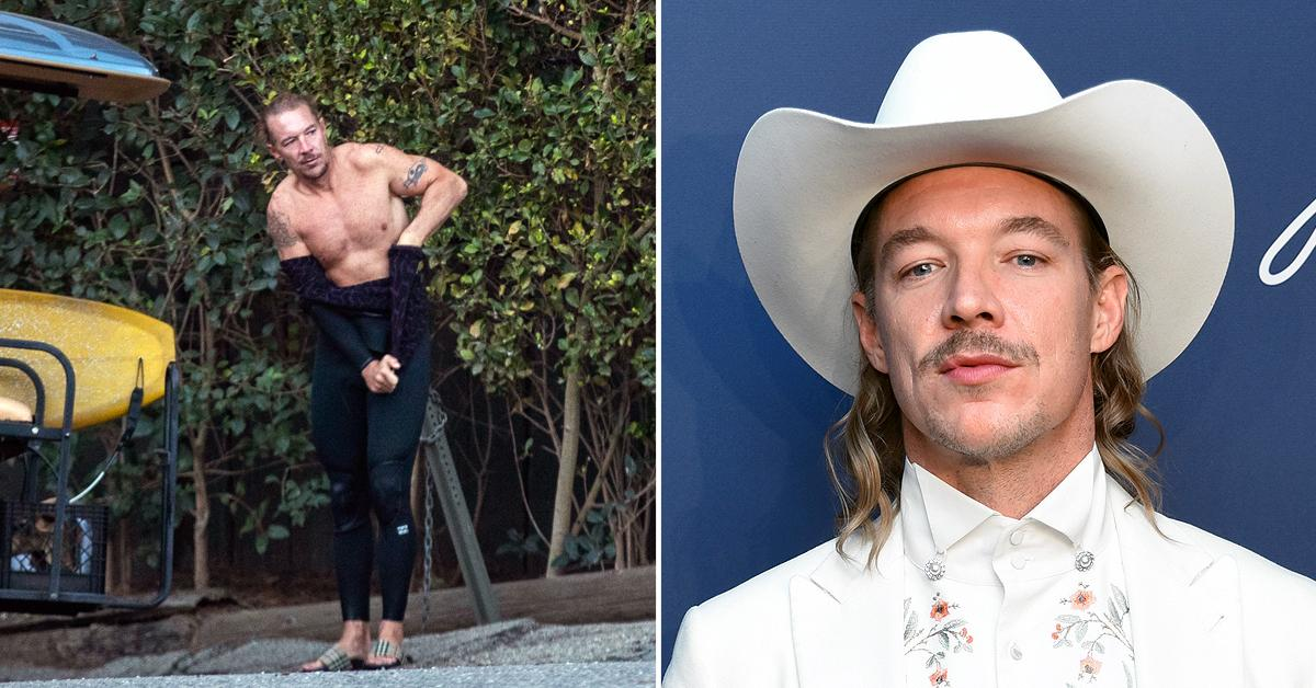 diplo shows amazing body tattoos surfing malibu pf