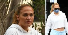 jennifer lopez leaves gym lunch with friends pf