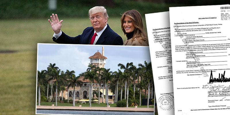 President Trump And First Lady Declare They Are Moving To Palm Beach And Not NYC