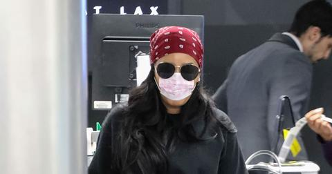 Angela Simmons Wears Face Mask At Airport Amid Coronavirus Outbreak