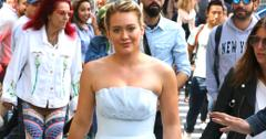 Hilary Duff in a Ball Gown on the set of Younger