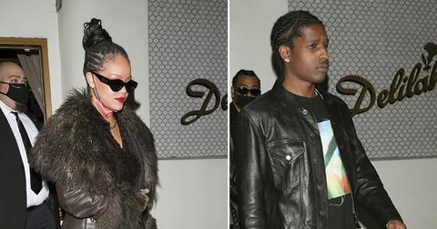 rihanna and adollarap rocky leave drakes party together
