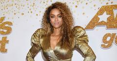 Tyra banks gold 80s dress agt red carpet main
