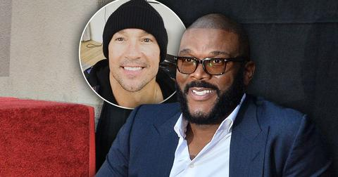 Tyler Perry with inset of Carl Lentz; Tyler Perry Paid $100K In Rent For Carl Lentz's Los Angeles Mansion