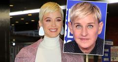 Blonde Katy Perry Defends Ellen Degeneres, Inset of Ellen Degeneres