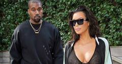 Kanye West and Kim Kardashian head out to the airport in New York