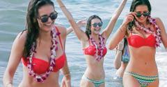 Nina Dobrev Bikini Beach Vacation