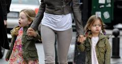 Sarah Jessica Parker Takes the Twins to School in Matching Jacket and Boots