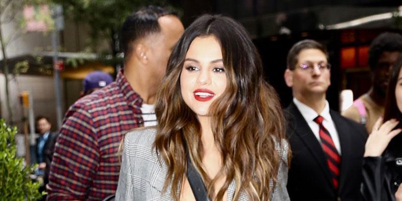 Selena Gomez Pantsuit NYC