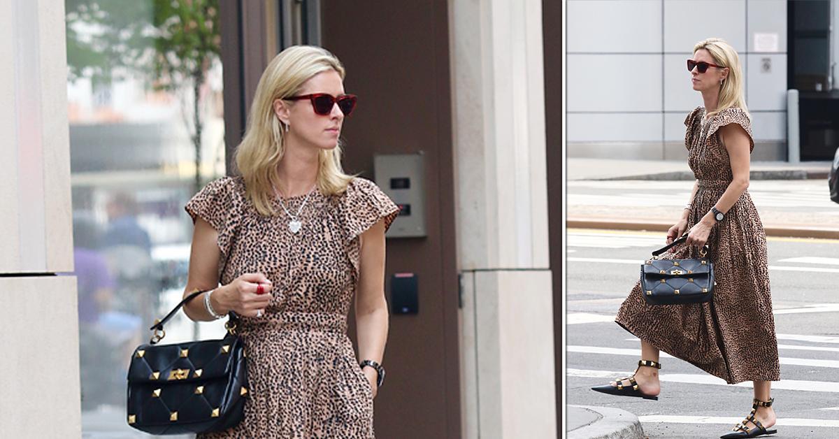 nicky hilton wears leopard dress in nyc