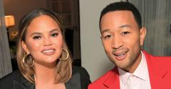 Chrissy Teigen And John Legend Pose At An Event