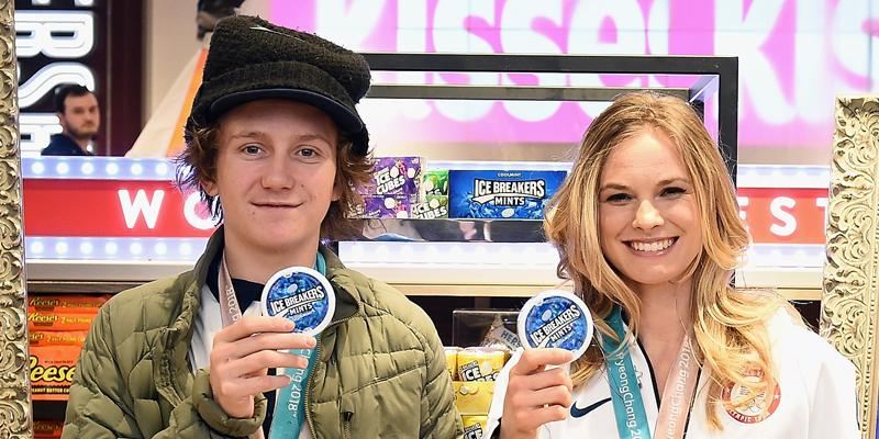 Red Gerard And Jessie Diggins: Ice Breakers Team Unicorn First Day Back
