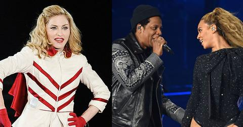 Madonna calls herself jay z beyonce master fan reactions
