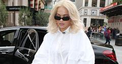 Rita ora goes pantless white shirt dress london pics