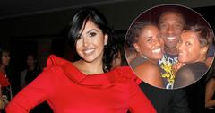 Vanessa Bryant In Red Dress Kobe Bryant And Sisters Inset