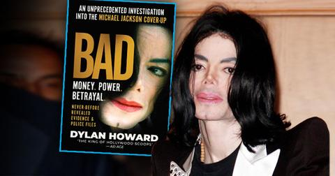 Inset of Michael Jackson Book BAD, Michael Jackson looking tired