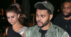 *EXCLUSIVE* Sexy Selena Gomez and The Weeknd arrive hand in hand at Carbone