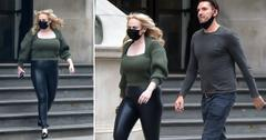 rebel wilson shows off weight loss in leather pants