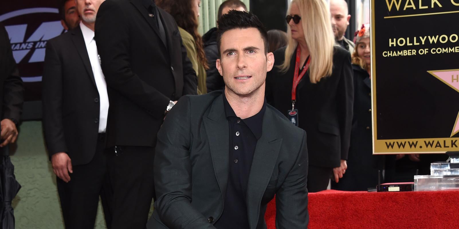 Celebrities at the Walk of Fame ceremony in honor of Adam Levine