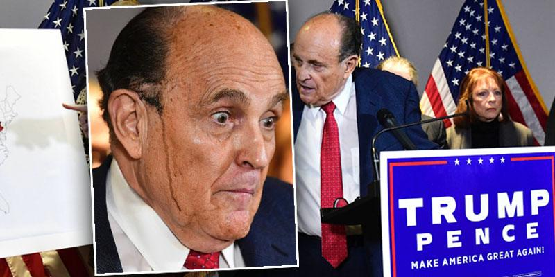 [Rudy Giuliani Sweats Through His Hair Dye During Press Conference