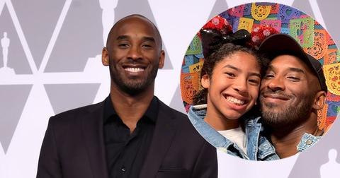 Kobe Bryant On Red Carpet And With Daughter Gianna Bryant Inset