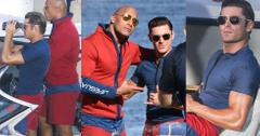 Baywatch movie the rock zac efron shirtless muscles 01