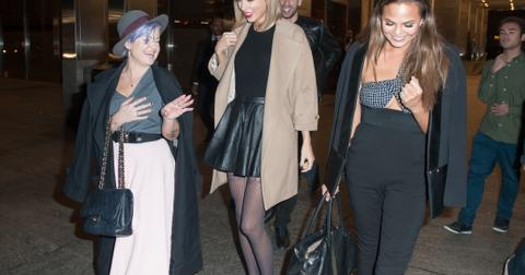 Taylor Swift leaves dinner with Kelly Osbourne and Chrissy Teigen