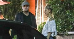 *EXCLUSIVE* Leonardo DiCaprio and Nina Agdal look in love as ever while cuddling up after dinner