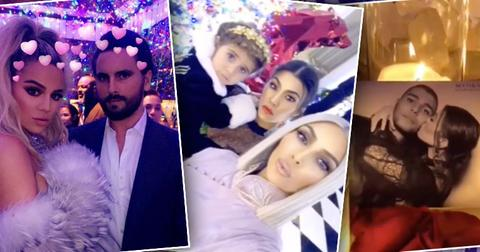 Kardashian christmas celebration details scott younes ok pp