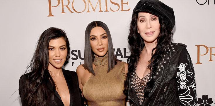 Cher Kim Kourtney Kardashian Promise Film Photos Long