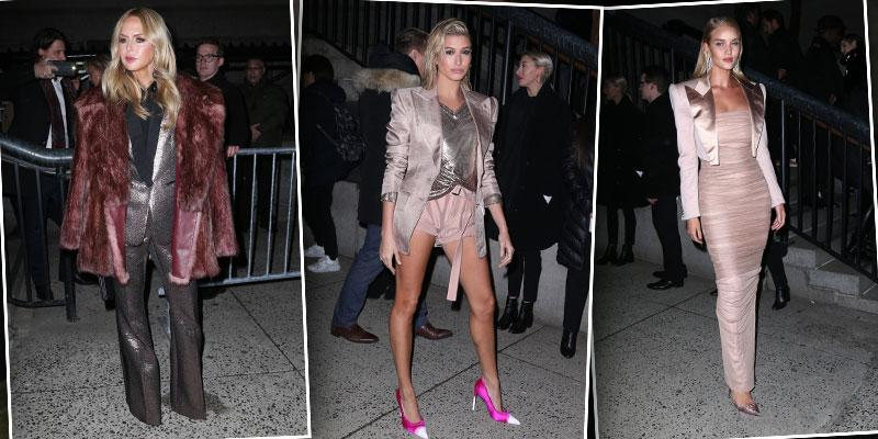 Inside tom ford fashion show hailey baldwin