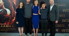 Producer Nina Jacobson, actor Liam Hemsworth, actress Jennifer Lawrence, actor Josh Hutcherson and director Francis Lawrence