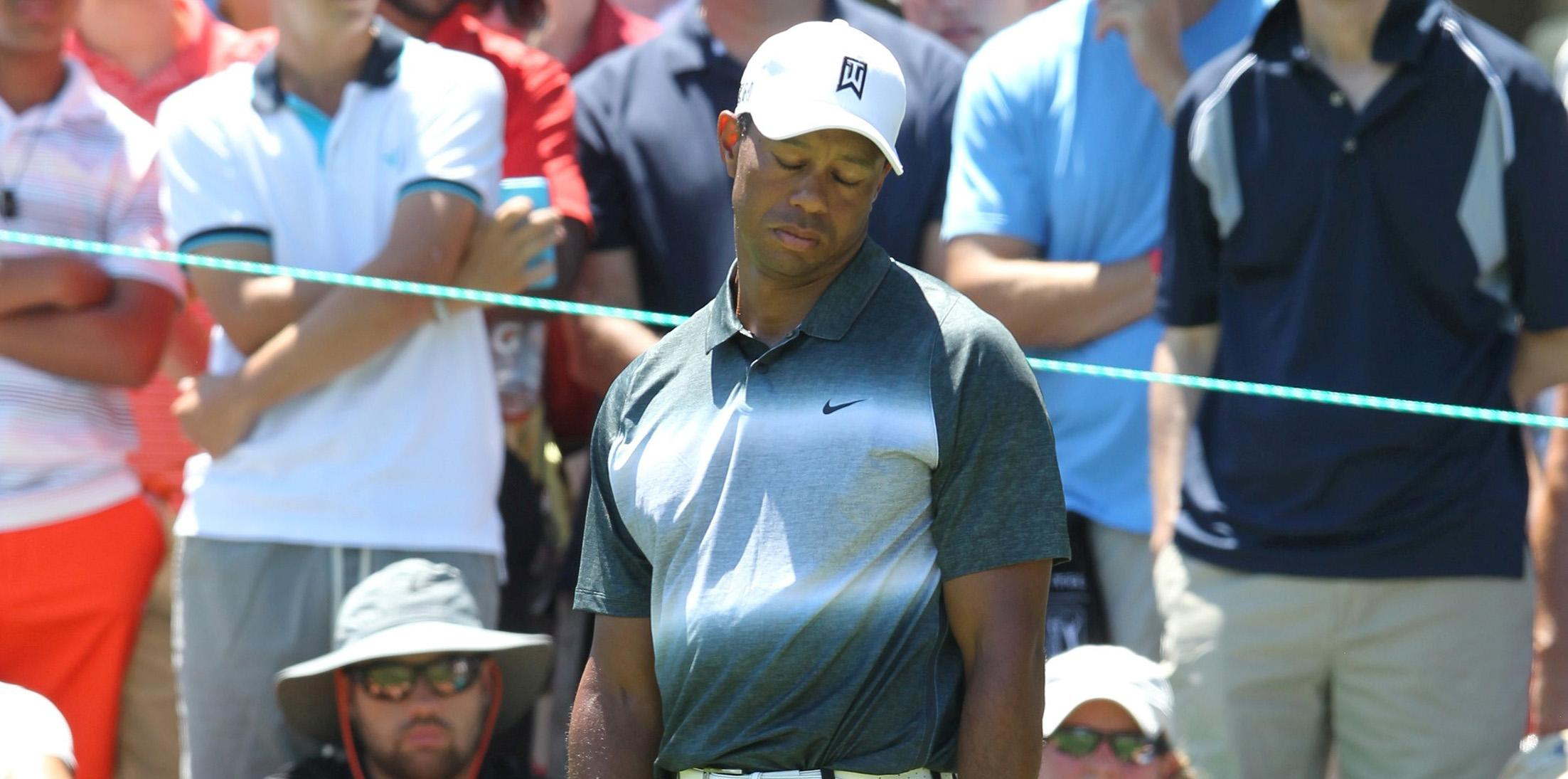 Tiger Woods and Nick Watney at round 2 of the Quicken Loans National in Virginia