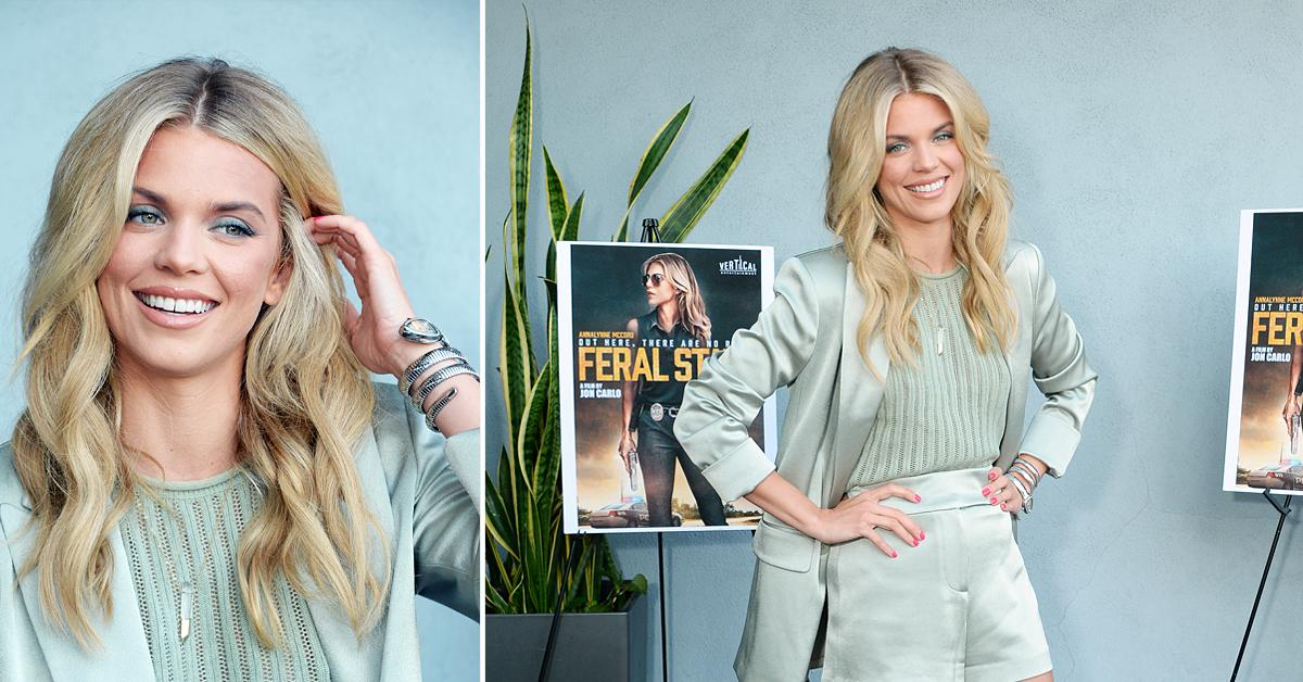 annalynne mccord at premiere of feral state ok