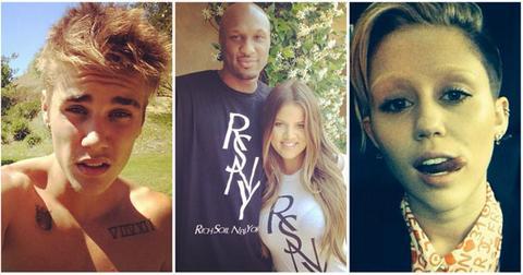 Justin Bieber Khloe Kardashian Lamar Odom Miley Cyrus