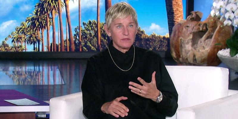 Ellen DeGeneres Weraing Black, On The Ellen DeGeneres ahow