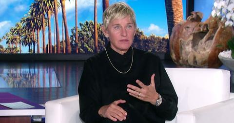 Ellen DeGeneres Weraing Black, On The Ellen DeGeneres ahow