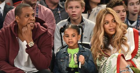 Beyonce jayz blue courtside 1
