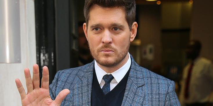 Michael buble tears up talking about son cancer video
