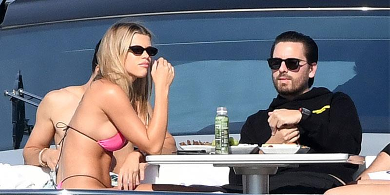 Sofia Richie And Scott Disick On A Yacht In Miami