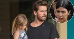 EXCLUSIVE: Scott Disick steps out for a sushi dinner with his kids Penelope and Mason Disick in Calabasas, California