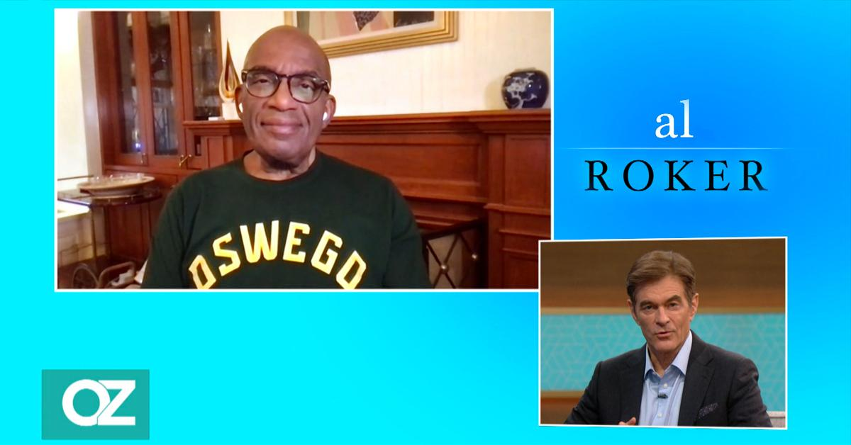 al roker talks prostate cancer covid  vaccine dr oz show interviewp pf