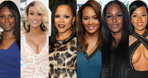 Basketball Wives cast members Shaunie O'Neal, Evelyn Lozada, Tami Roman, Jennifer Williams, Jackie Christie, Malaysia Pargo