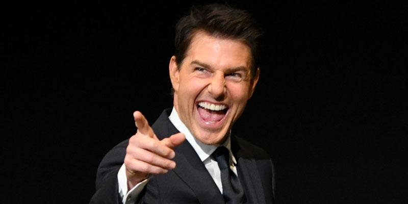 tom cruise suit laughing